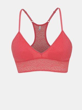 Ružová krajková podprsenka DKNY