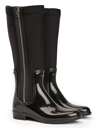 Tommy Hilfiger černé holínky Patent Long Rainboots