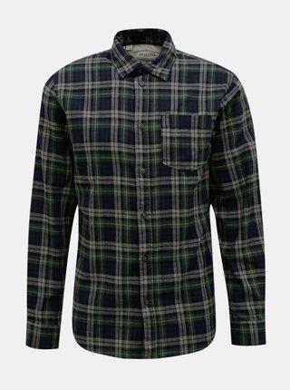 Tmavozelená kockovaná košeľa Selected Homme Matthew