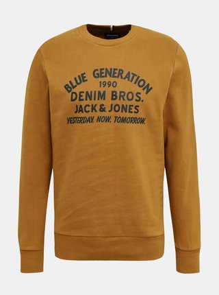Pulovere fara gluga pentru barbati Jack & Jones - maro