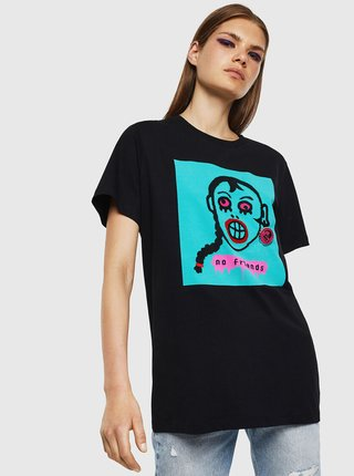 Čierne dámske tričko Diesel