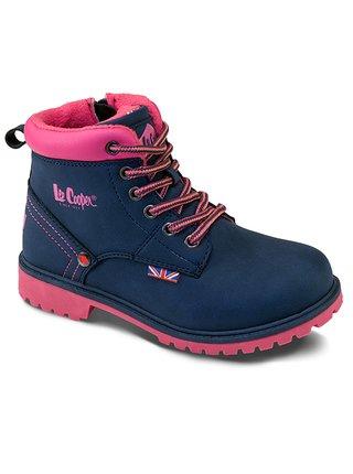 Lee Cooper modré dívčí boty Blue/Pink