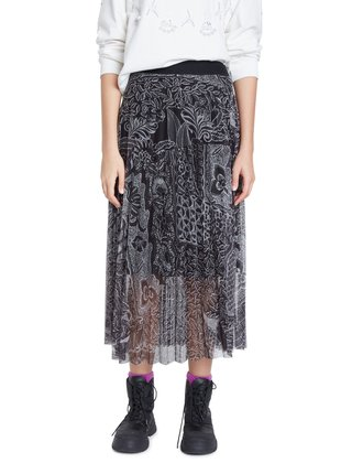 Desigual černo-bílá sukně Fal Fabiola