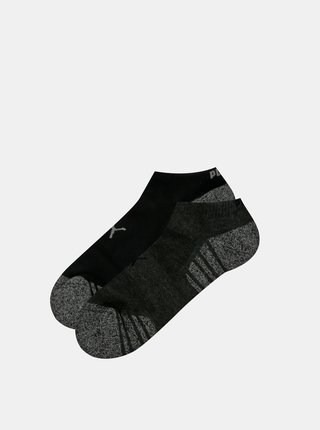 Sada dvoch čiernych párov nízkych ponožiek Puma