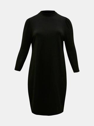 Čierne šaty so stojáčikom ONLY CARMAKOMA Malorca