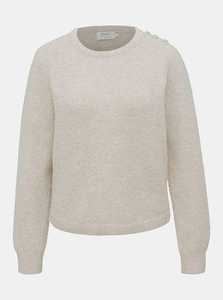 Krémový sveter ONLY Bling