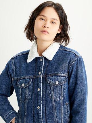 Modrá dámská džínová bunda s umělým kožíškem Levi's®