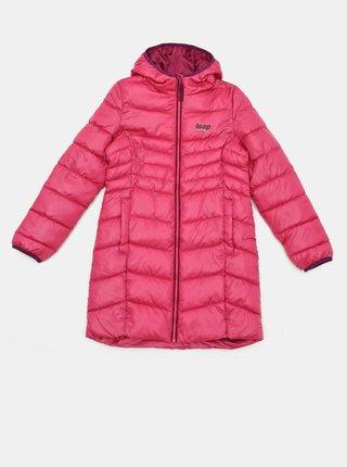 Ružový dievčenský zimný kabát LOAP