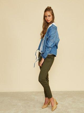 Khaki dámské slim fit kalhoty ZOOT Baseline Heather