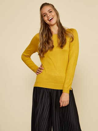 Žluý dámsky basic sveter ZOOT Baseline Ema