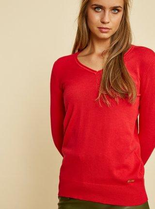 Červený dámsky basic sveter ZOOT Baseline Irma