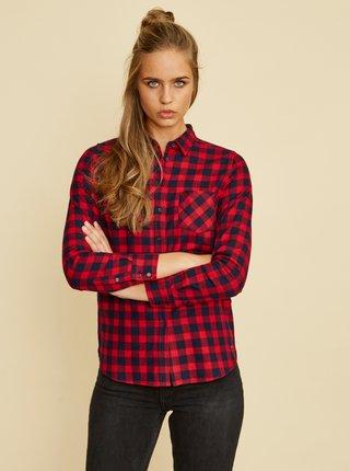 Červená dámska kockovaná košeľa ZOOT Gerda