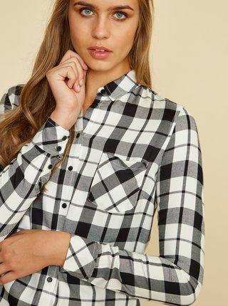 Čierno-biela dámska kockovaná košeľa ZOOT Baseline Dorcie