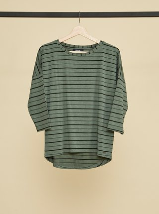Zelené dámské pruhované tričko ZOOT Kleopatra