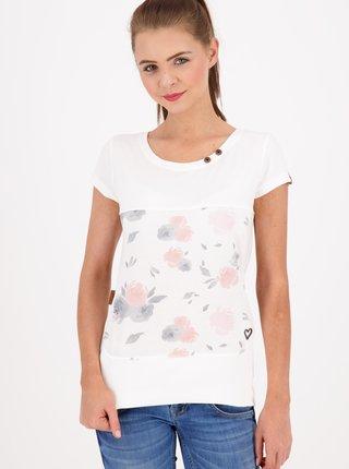 Biele dámske vzorované tričko Alife and Kickin