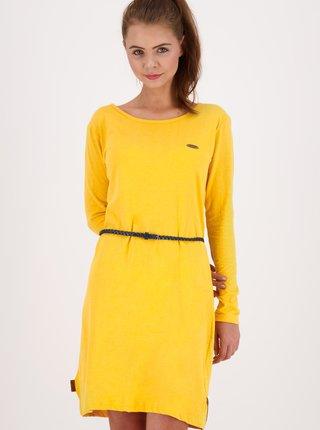 Žlté šaty s opaskom Alife and Kickin