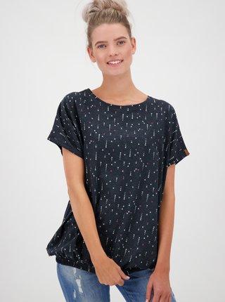 Čierne dámske vzorované tričko Alife and Kickin