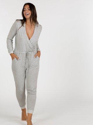 Šedý pyžamový overal DORINA