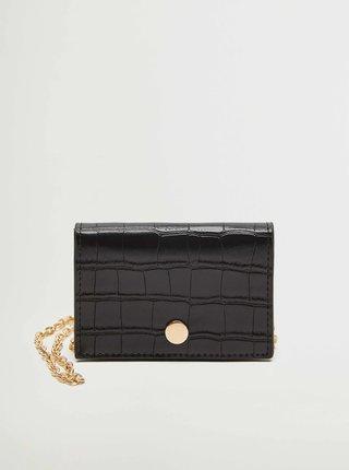 Černá peněženka s řetízkem Mango Maud
