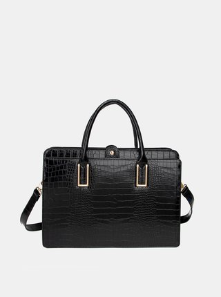 Černá kabelka s krokodýlím vzorem LYDC