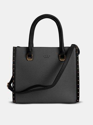 Šedo-čierna kabelka LYDC