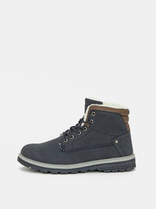 Modré pánské kotníkové zimní boty LOAP