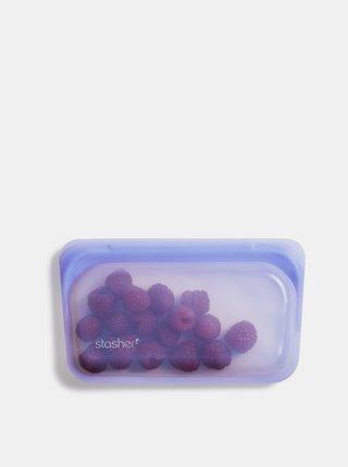 Světle fialový silikonový sáček na potraviny Stasher Snack 293 ml