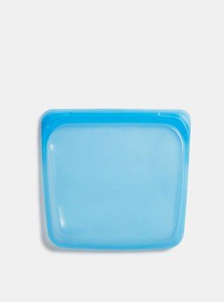 Modrý silikonový sáček na potraviny Stasher Sandwich 450 ml
