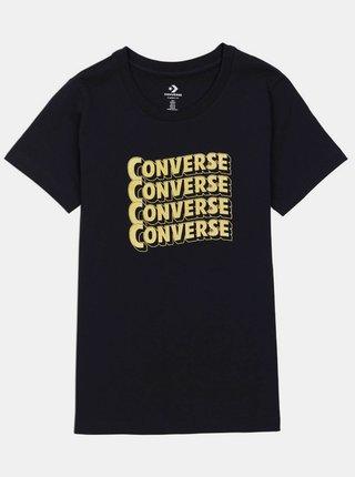 Čierne dámske tričko Converse