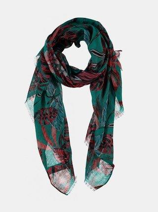 Zelený vzorovaný šátek Haily´s