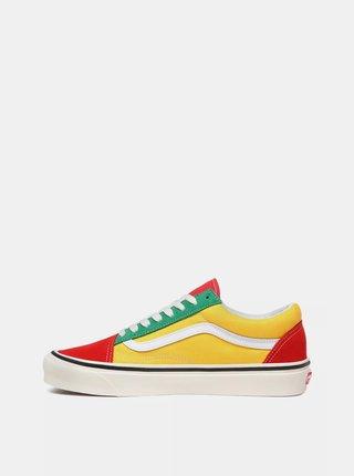 Červeno-žluté tenisky VANS