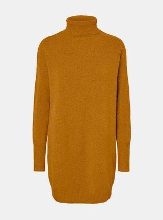Hořčicové svetrové šaty VERO MODA Brilliant