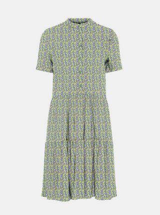 Modro-zelené vzorované šaty VERO MODA Simone