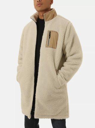 Krémová pánska zimná obojstranná bunda VANS
