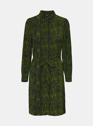 Rochii tip camasa pentru femei VERO MODA - verde inchis