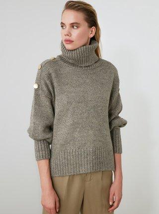Šedý sveter Trendyol