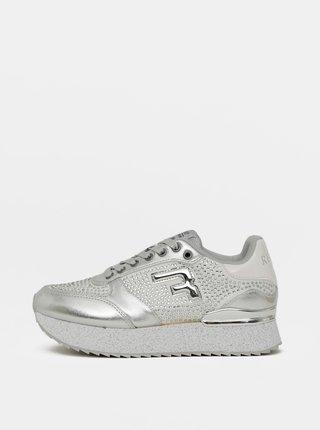 Dámské tenisky ve stříbrné barvě Replay