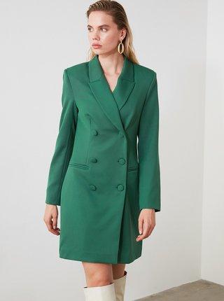 Zelený kabát Trendyol