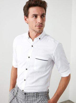 Bílá pánská košile Trendyol