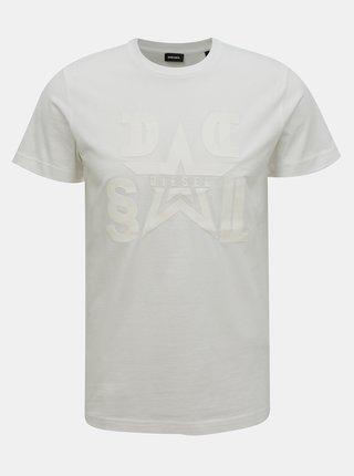 Biele pánske tričko Diesel