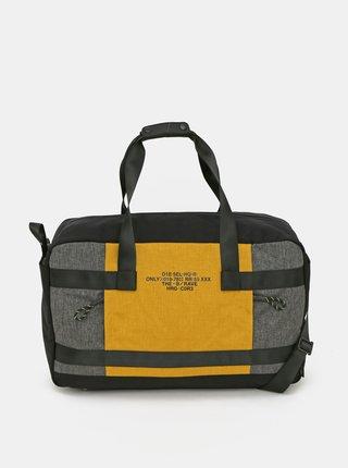 Žlto-čierna pánska cestovná taška Diesel