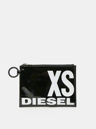 Černé lesklé psaníčko s nápisem Diesel