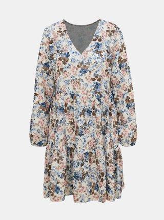 Krémové květované šaty Haily´s