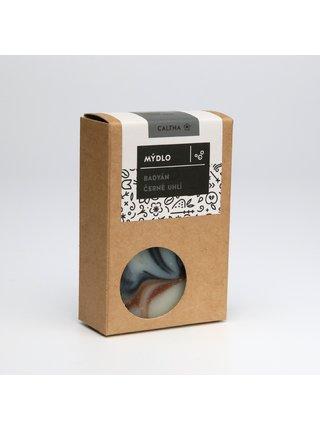 Caltha Tuhé mýdlo Badyán a černé uhlí 100 g