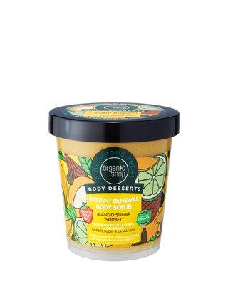 Organic Shop Body Desserts Antioxidační tělový peeling Mangový cukrový sorbet 450 ml