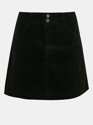 Čierna menčestrová sukňa Jacqueline de Yong Era