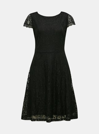 Čierne krajkové šaty VERO MODA Sassa