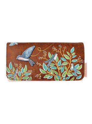 Disaster hnědá peněženka Secret Garden Bird Wallet