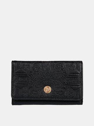Čierna vzorovaná peňaženka Roxy