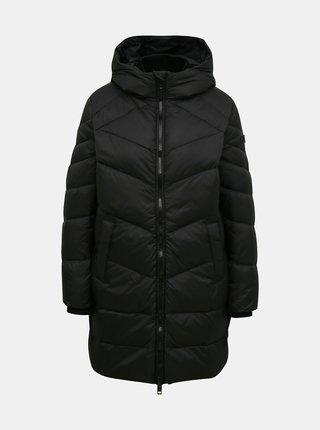 Černý dámský zimní prošívaný kabát Diesel